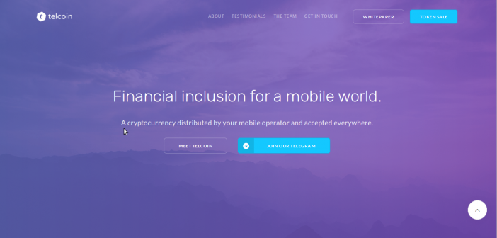 Telcoin, a cryptocurrency distributed by mobile operators worldwide