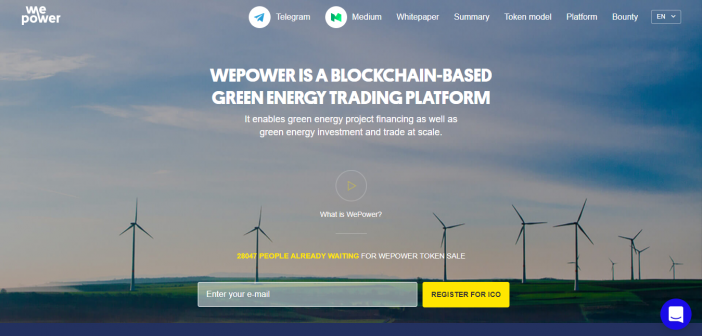 Wepower, blockchain-based green energy trading