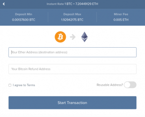 Bitcoin to Ethereum