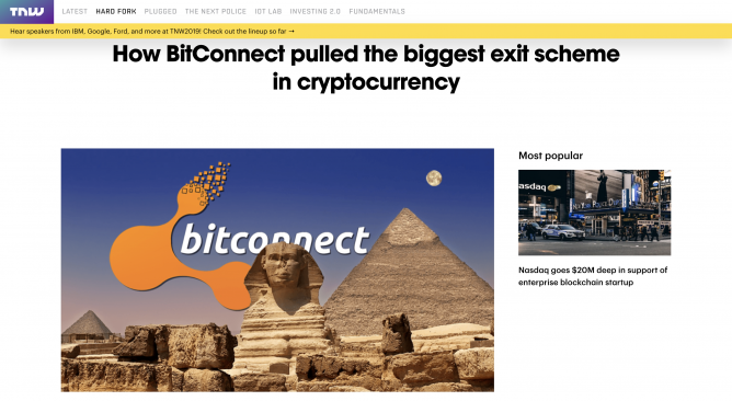bitconnect lending site scam
