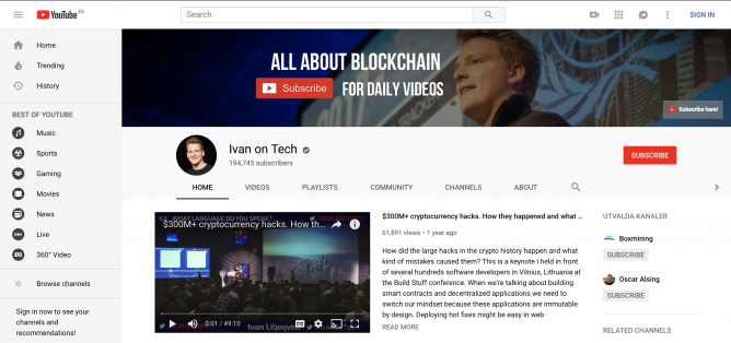 earn bitcoin with youtube