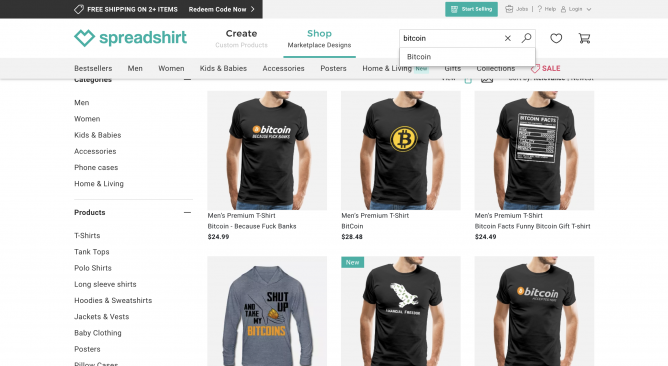 make money with bitcoin merchandise