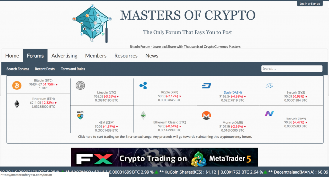 masters of crypto forum