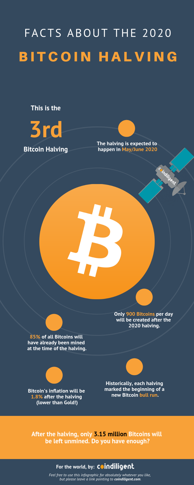 2020 Bitcoin Halving infographic