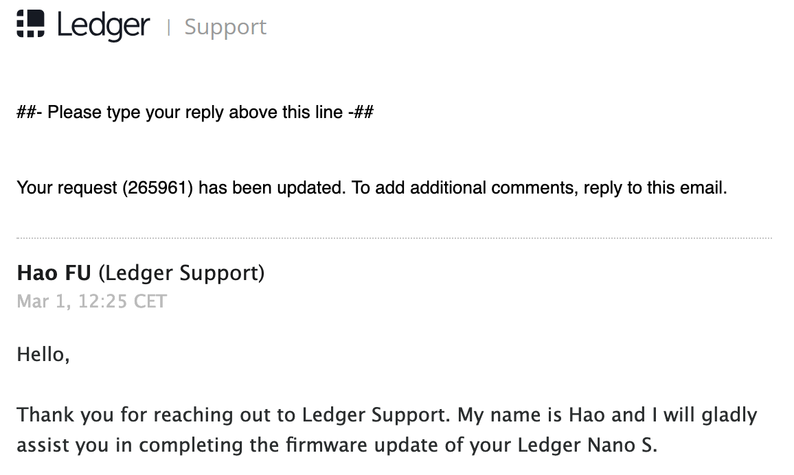 ledger support