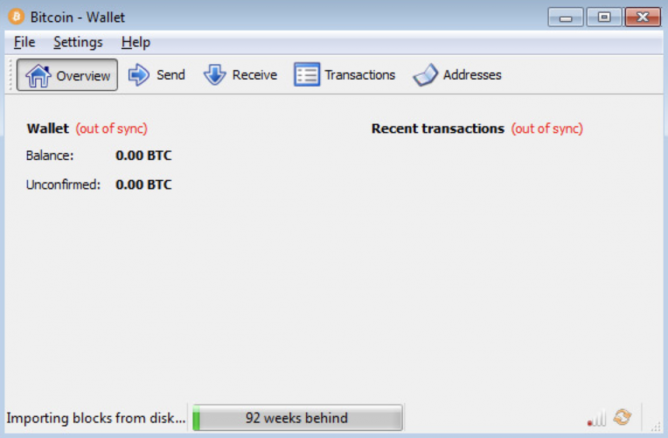 bitcoin wallet syncing