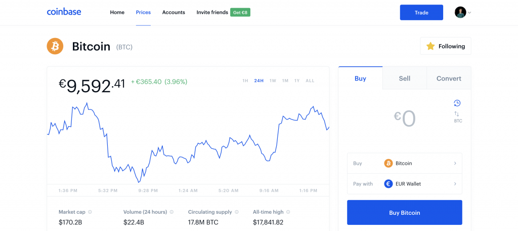buy bitcoin on coinbase