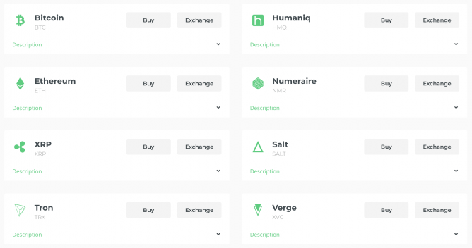 changelly coins