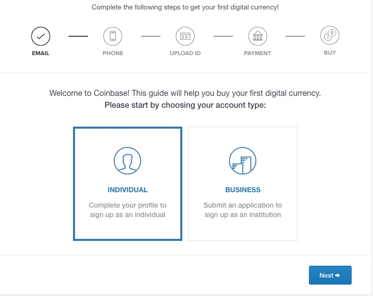 coinbase identity verification