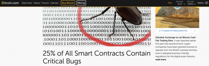 ethereum smart contract bugs