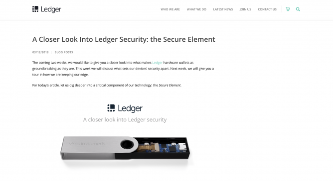 ledger secure element