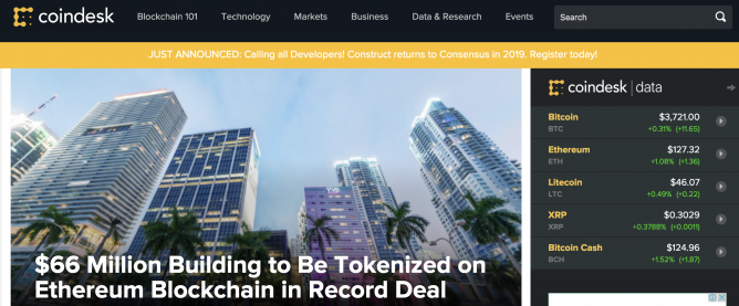 tokenized real estate ethereum