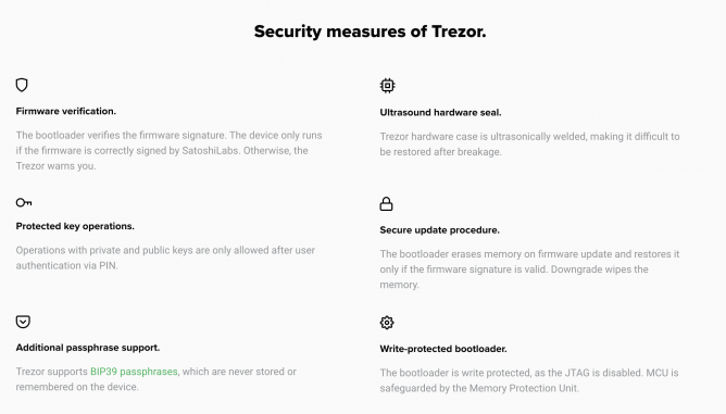 trezor one security