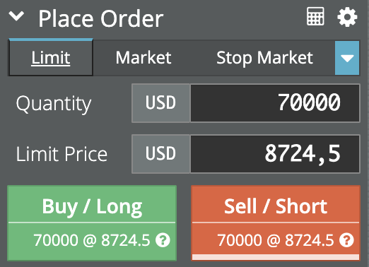 open trade on bitmex